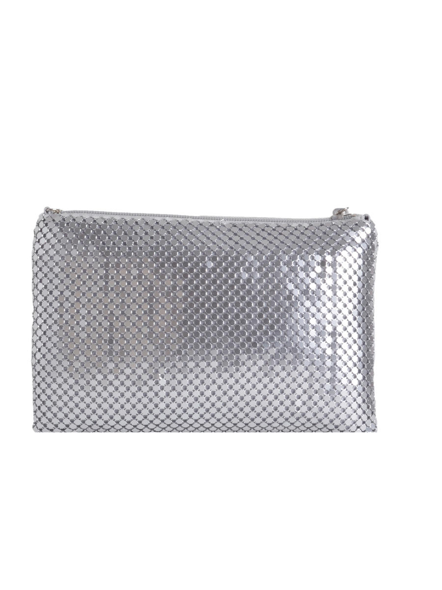Mesh With Long Chain Evening Bag