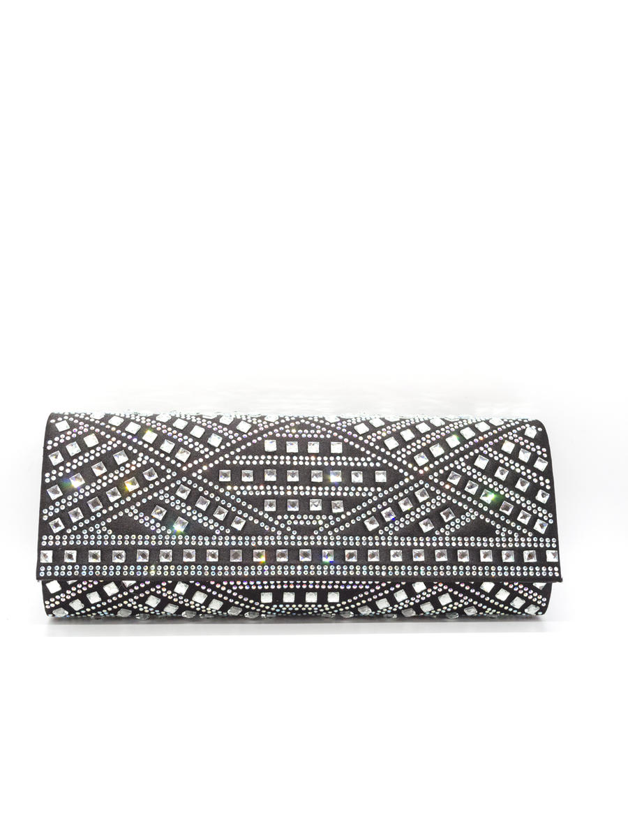 MUNDI Westport / Jessica McClintick - Long Rhinestone Clutch