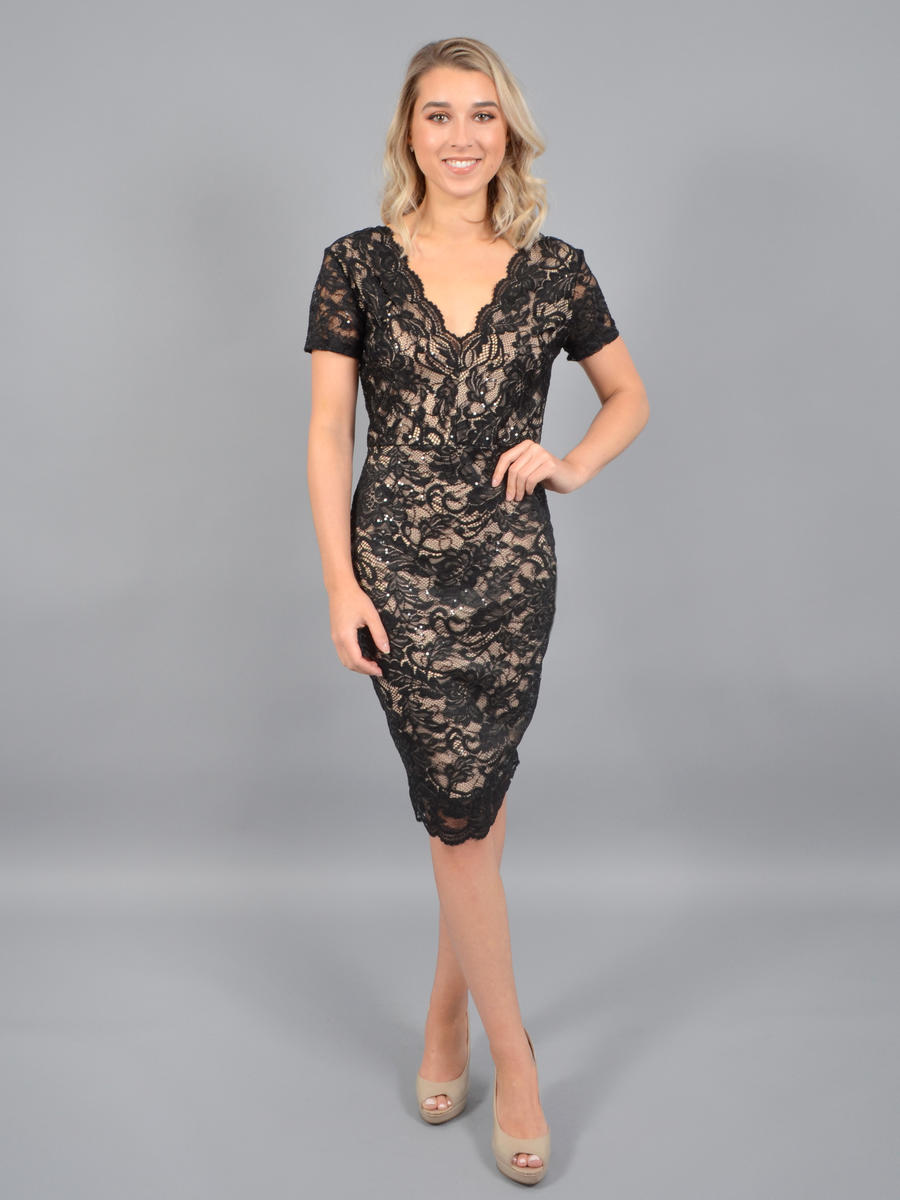 JBLA INC - Lace Metallic Dress