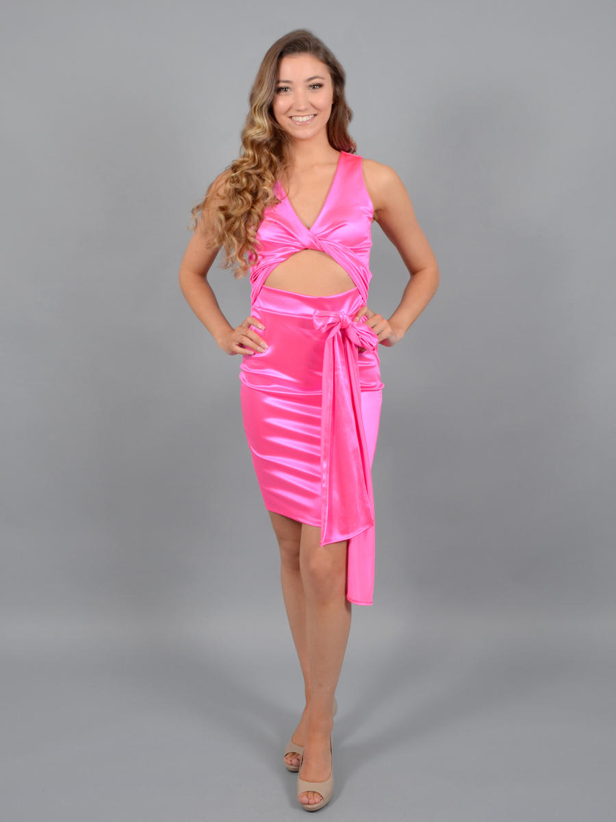 JBLA INC - Satin Dress Wrap Bodice