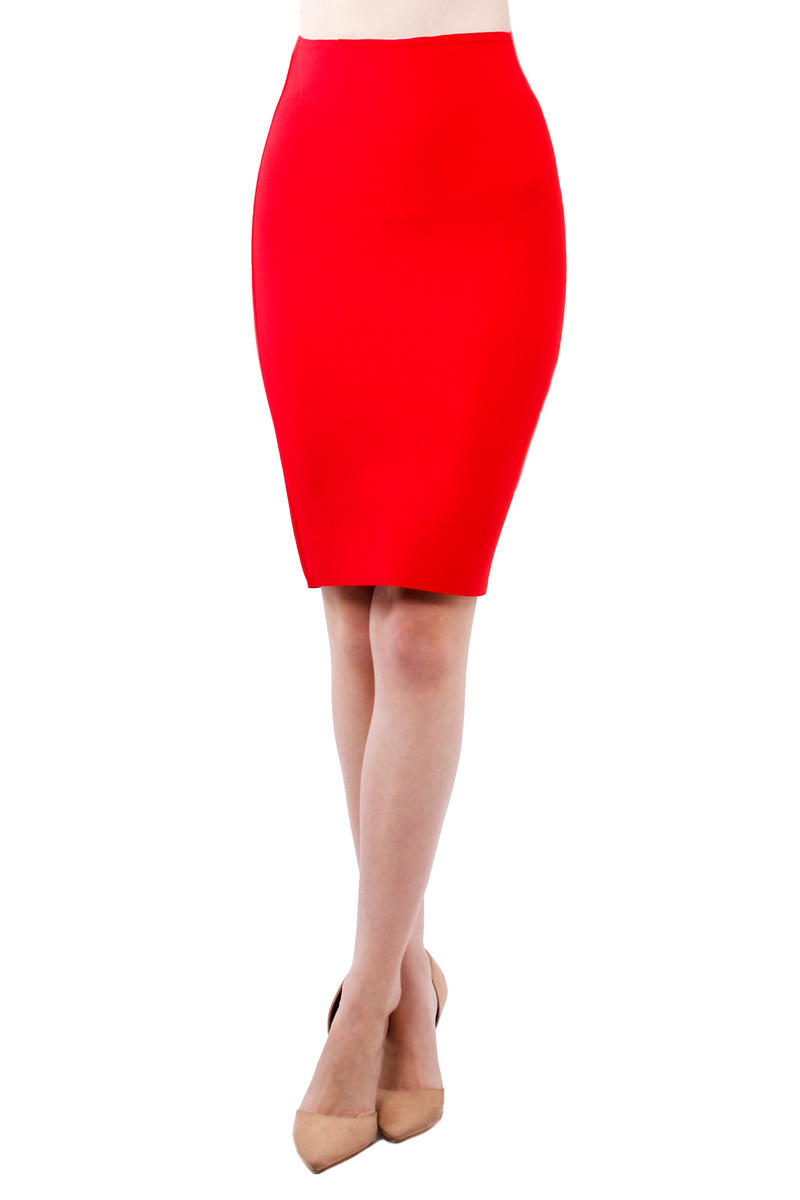 JBLA INC - Stretch Knit Pencil Skirt