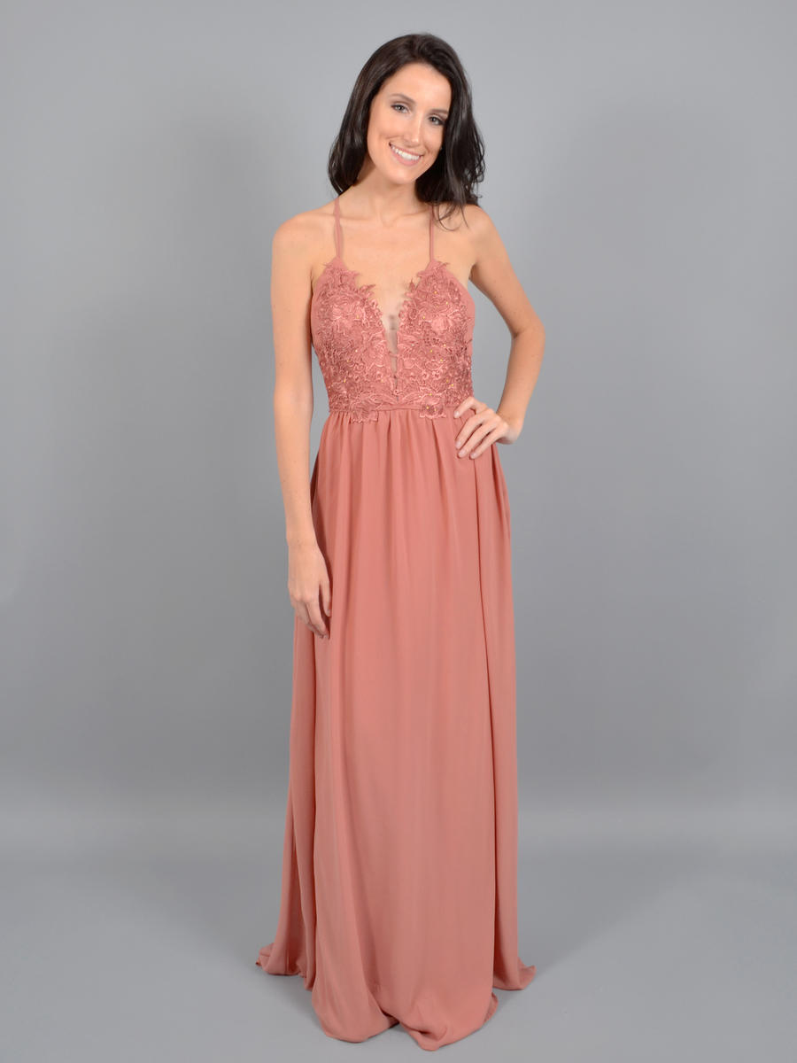 JBLA INC - Chiffon Gown Embroidered Boddess