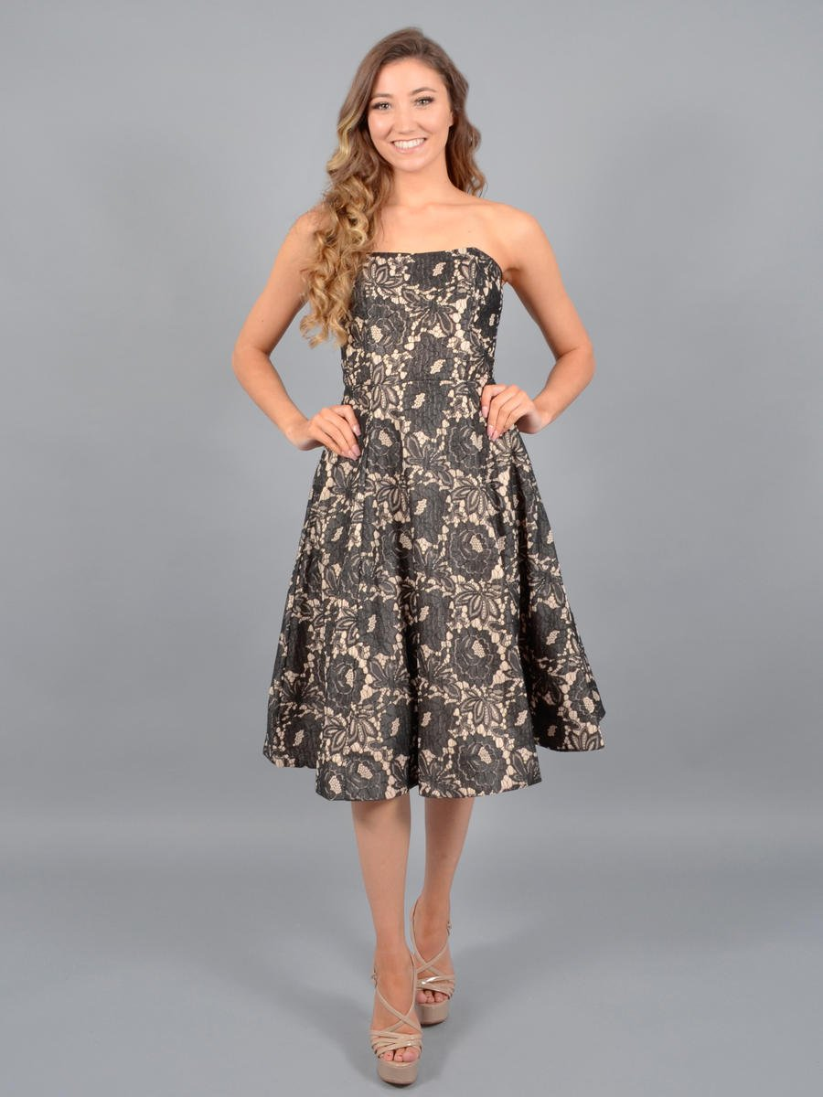 JBLA INC - Brocade Dress Strapless