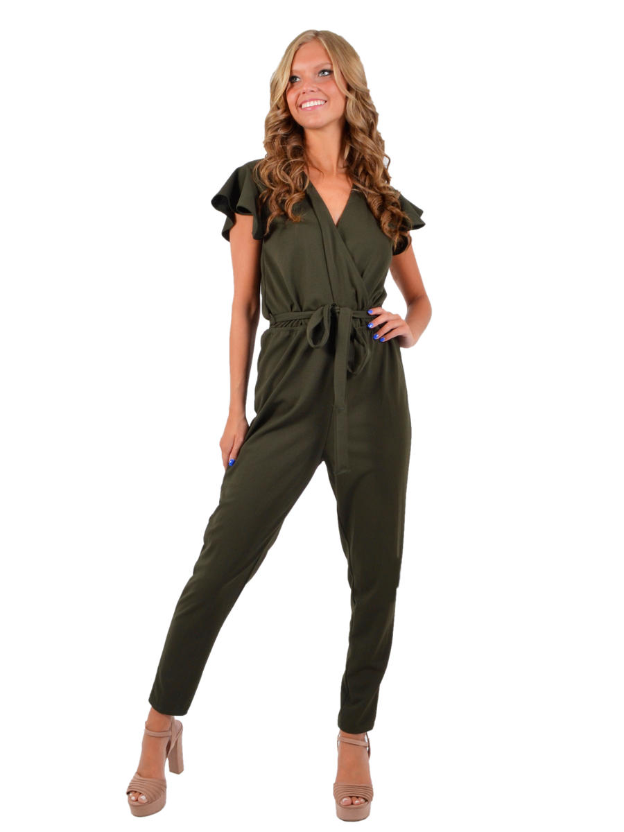 JBLA INC - Satin Keyhole Back Jumpsuit