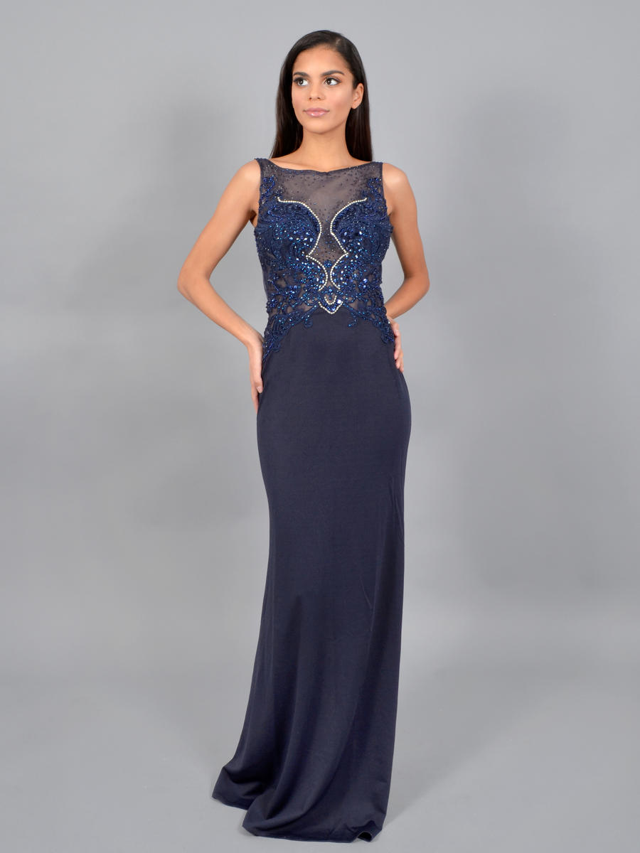 JBLA INC - Satin Embroidered Gown