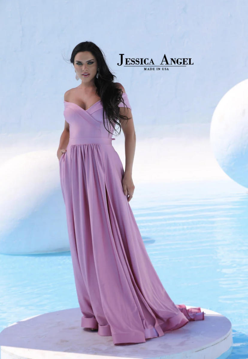 Jessica Angel - Off The Shoulder Jersey Silk Gown