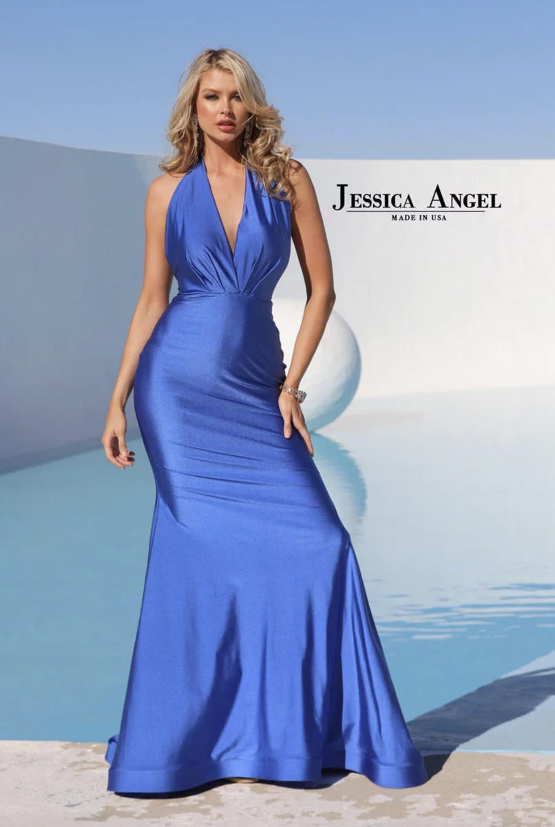 Jessica Angel - Silk Jersey Gown Halter Neck
