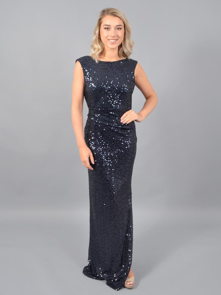 JESSICA HOWARD - Sequin Gown-Draped Back