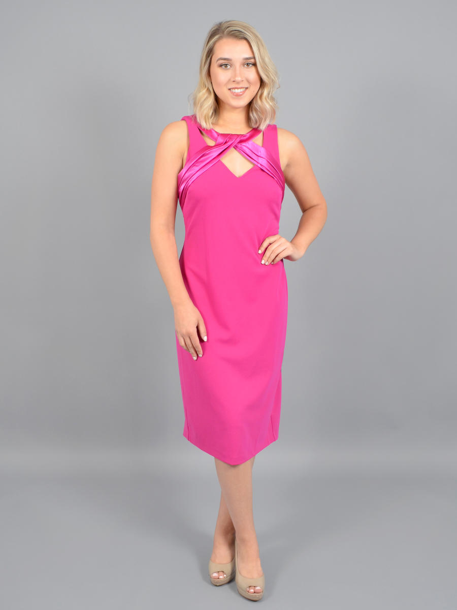 JESSICA HOWARD - Satin Pleat Bodice Dress