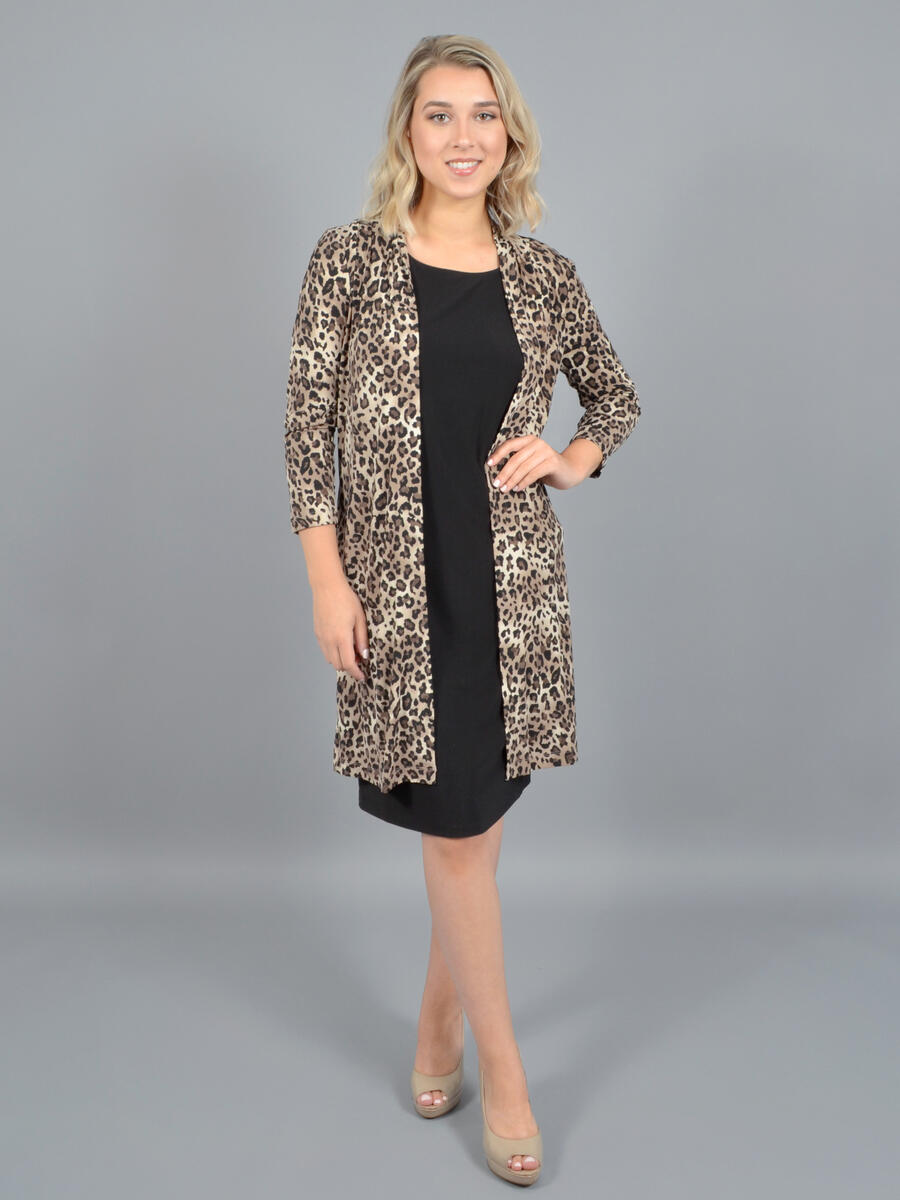 JESSICA HOWARD - 2 Piece Dress-Animal Print Duster