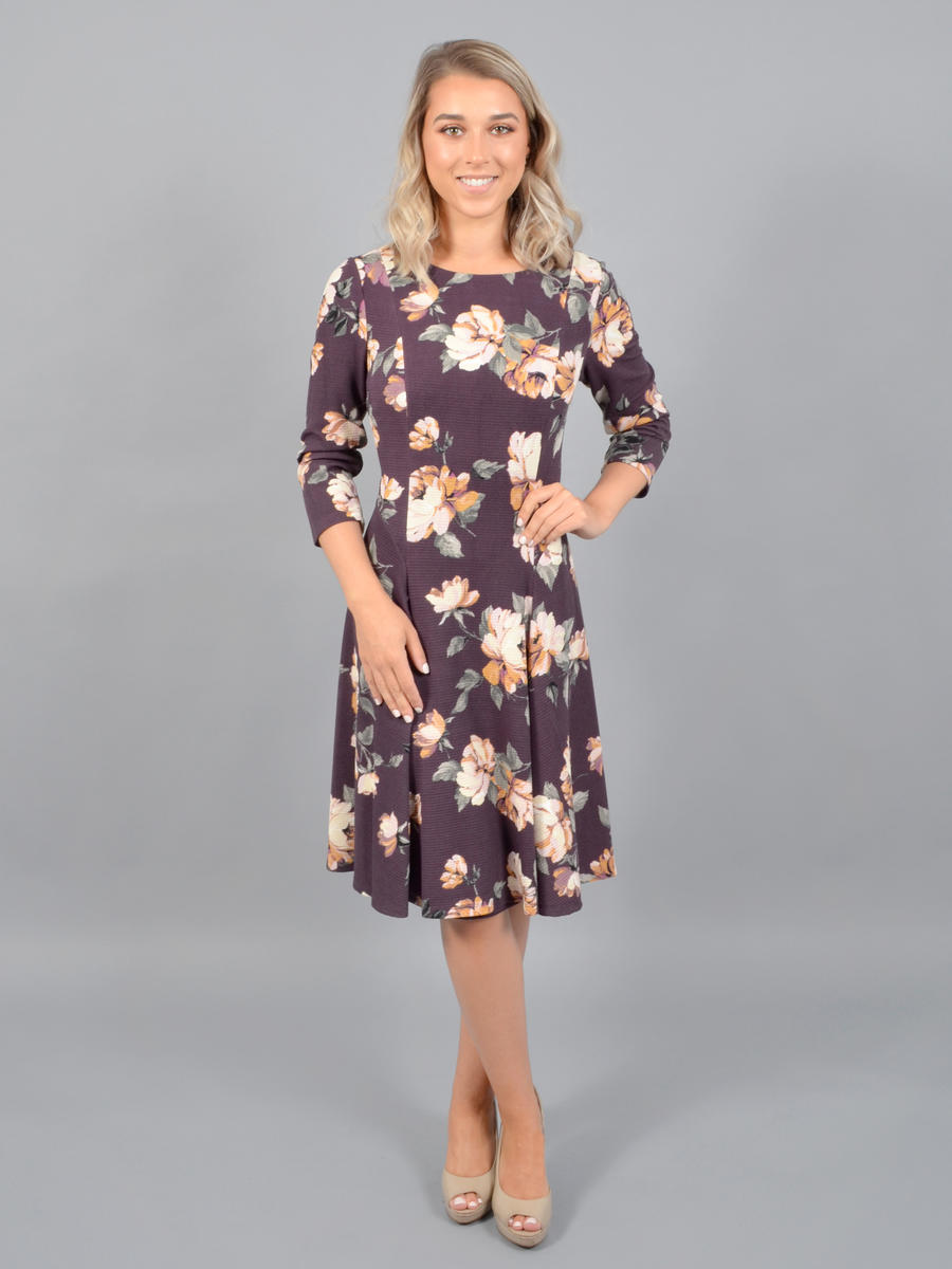 JESSICA HOWARD - Long Sleeve Print Dress
