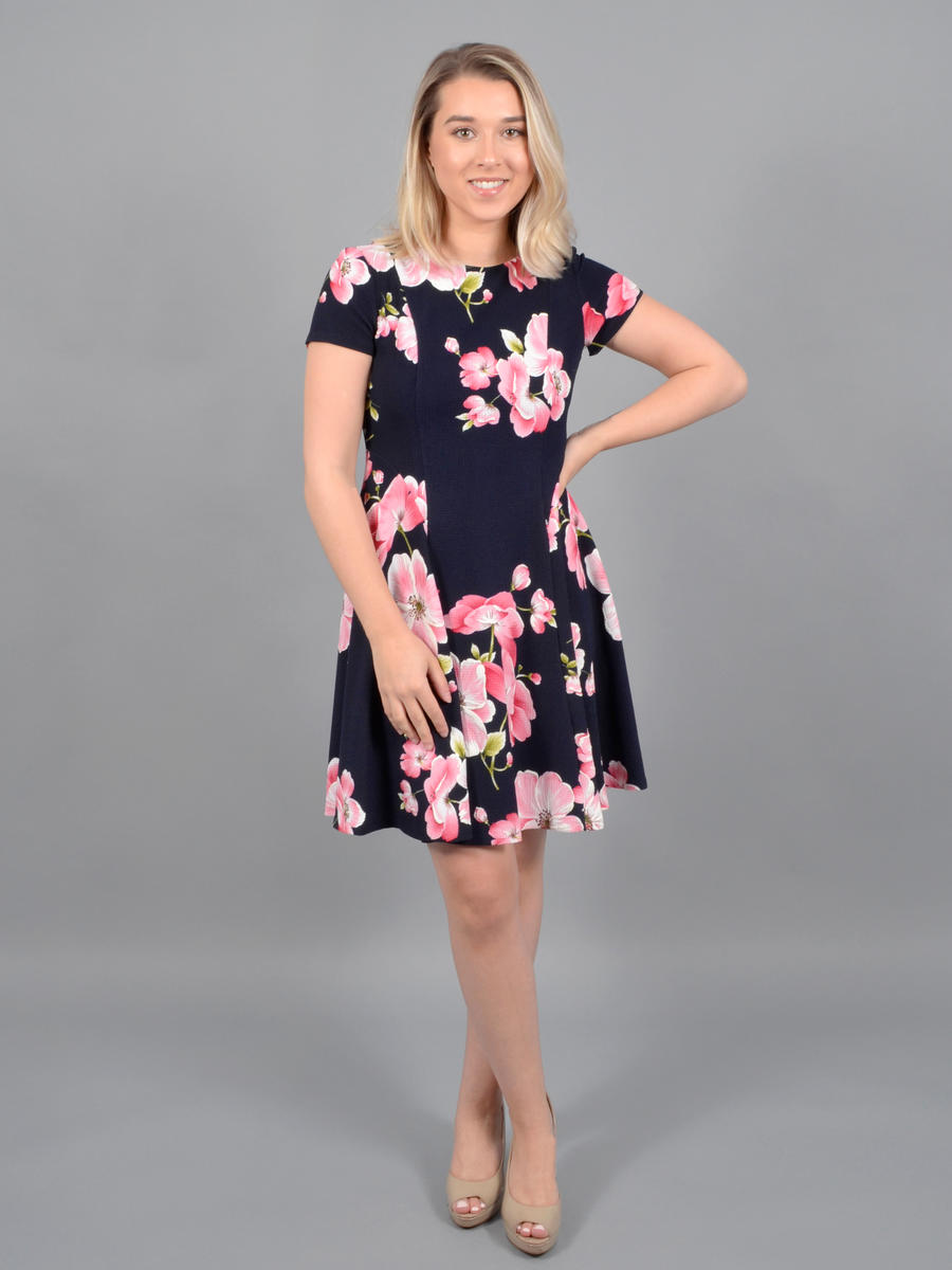 JESSICA HOWARD - Short Sleeve Print Dress
