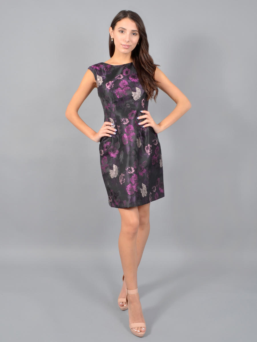 JESSICA HOWARD - Satin Brocade Dress