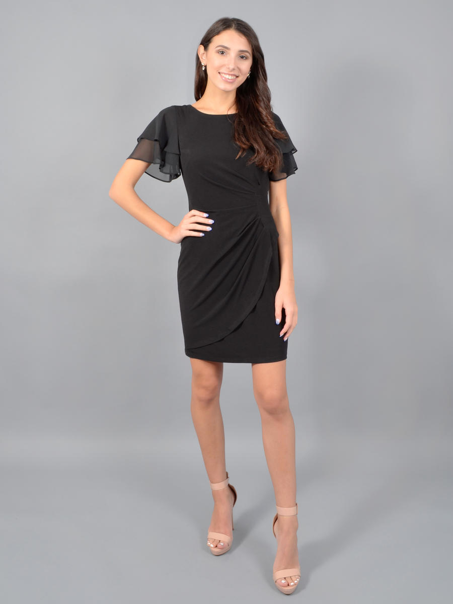 JESSICA HOWARD - Short Sleeve Wrap Lycra Dress