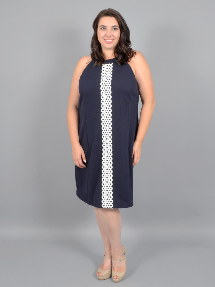 JESSICA HOWARD - Dress-Embroidered Trim JH9W4867
