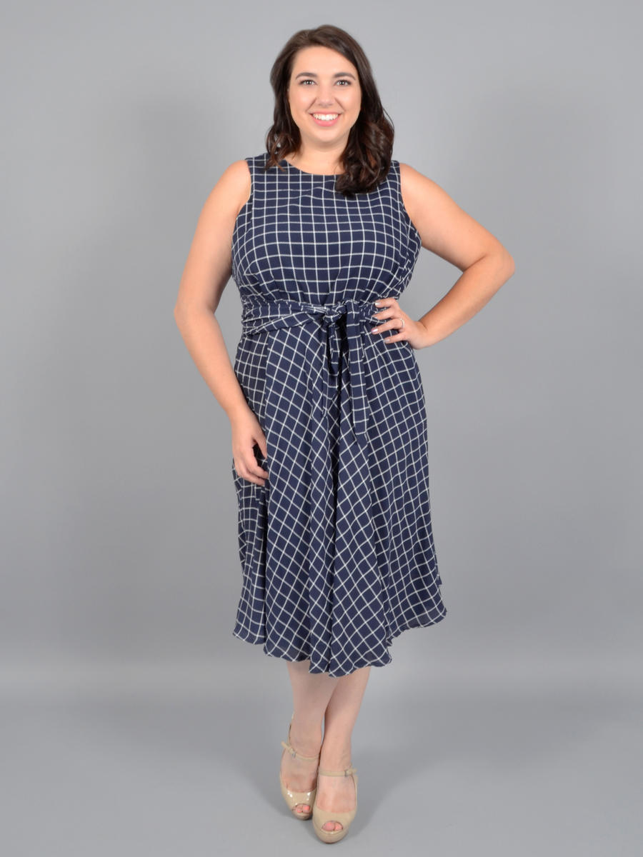 JESSICA HOWARD - Print Dress-Tie Waist
