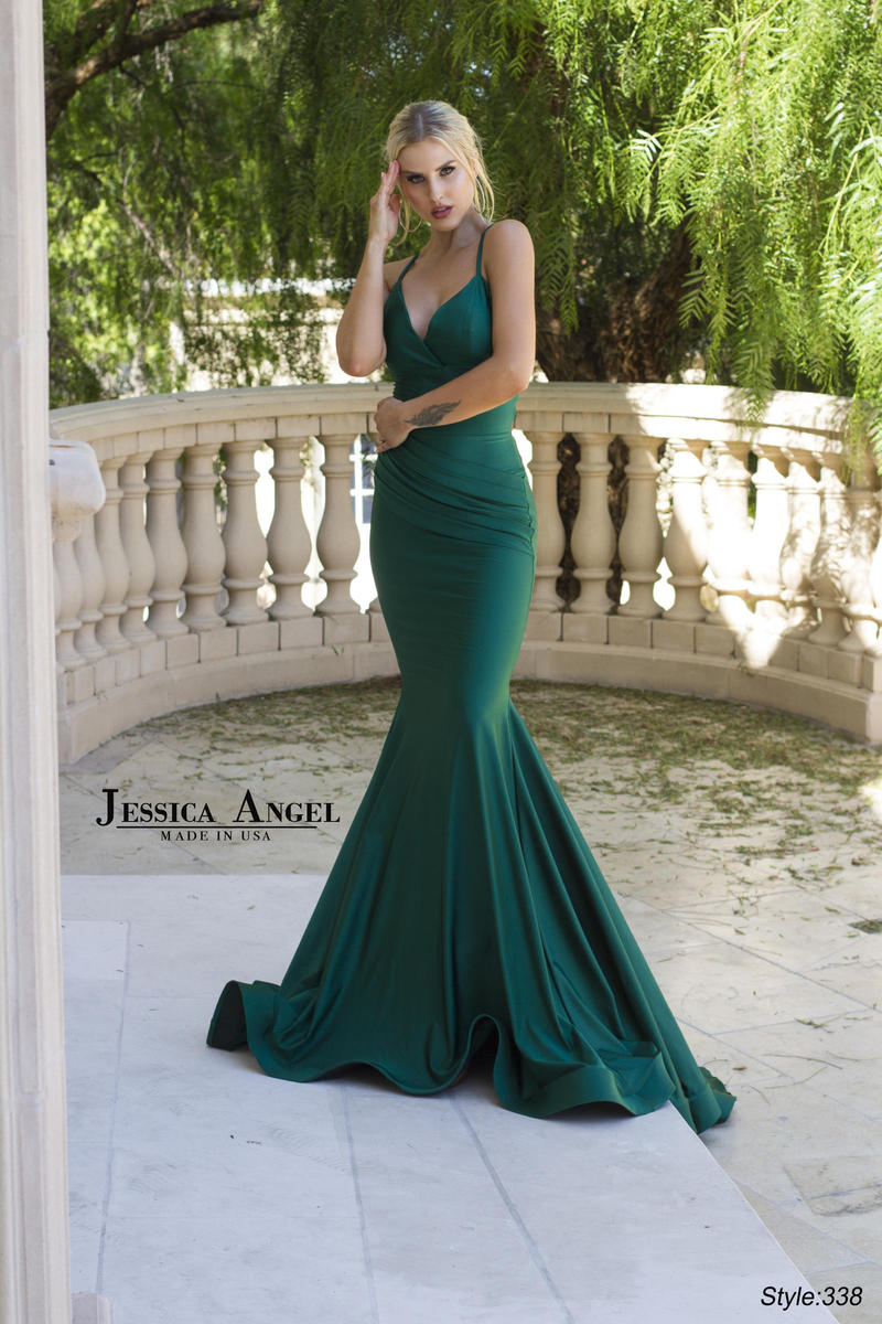 Jessica Angel - Silk Jersey Gown Spaghetti Strap Lace Up Back