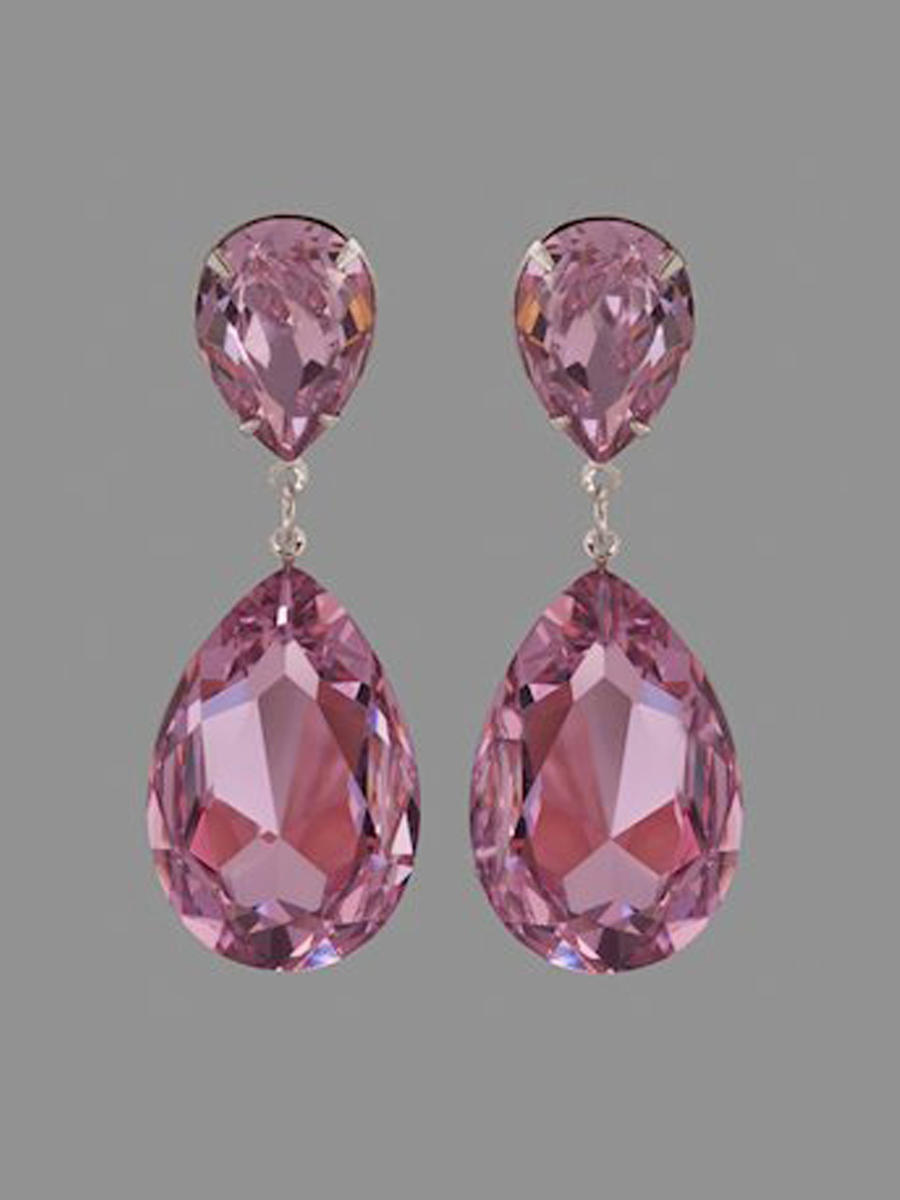 JIM BALL DESIGN - Large Crystal Drop Earring