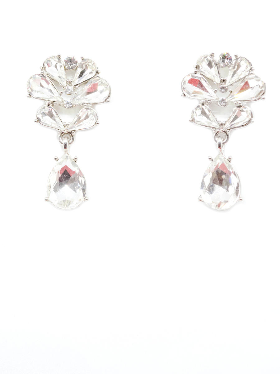 JIM BALL DESIGN - Flower Crystal Drop Earring