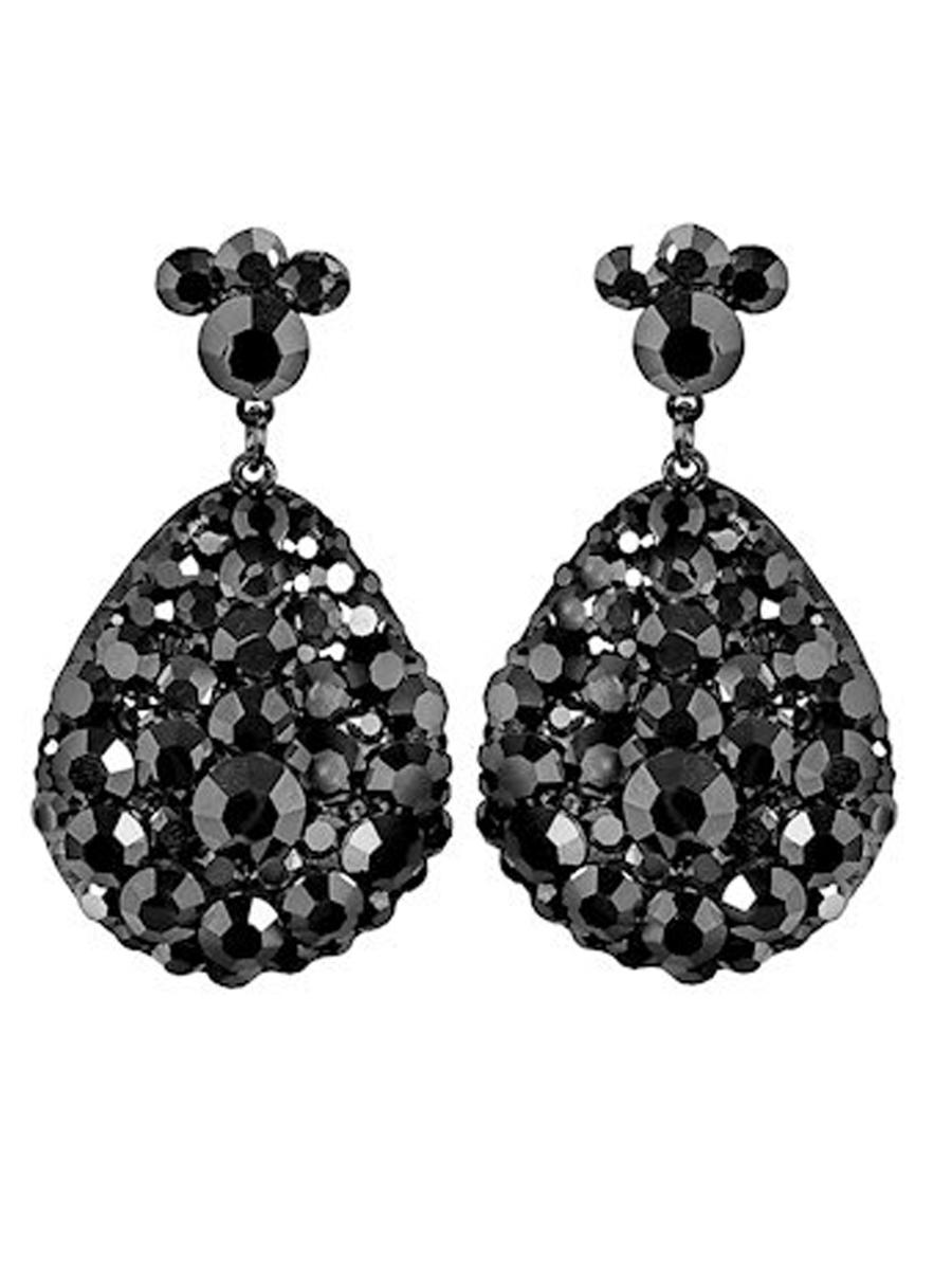 JIM BALL DESIGN - Pave pear Drop Earring