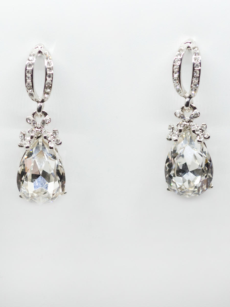 JIM BALL DESIGN - Rhinestone Crystal Drop Earring