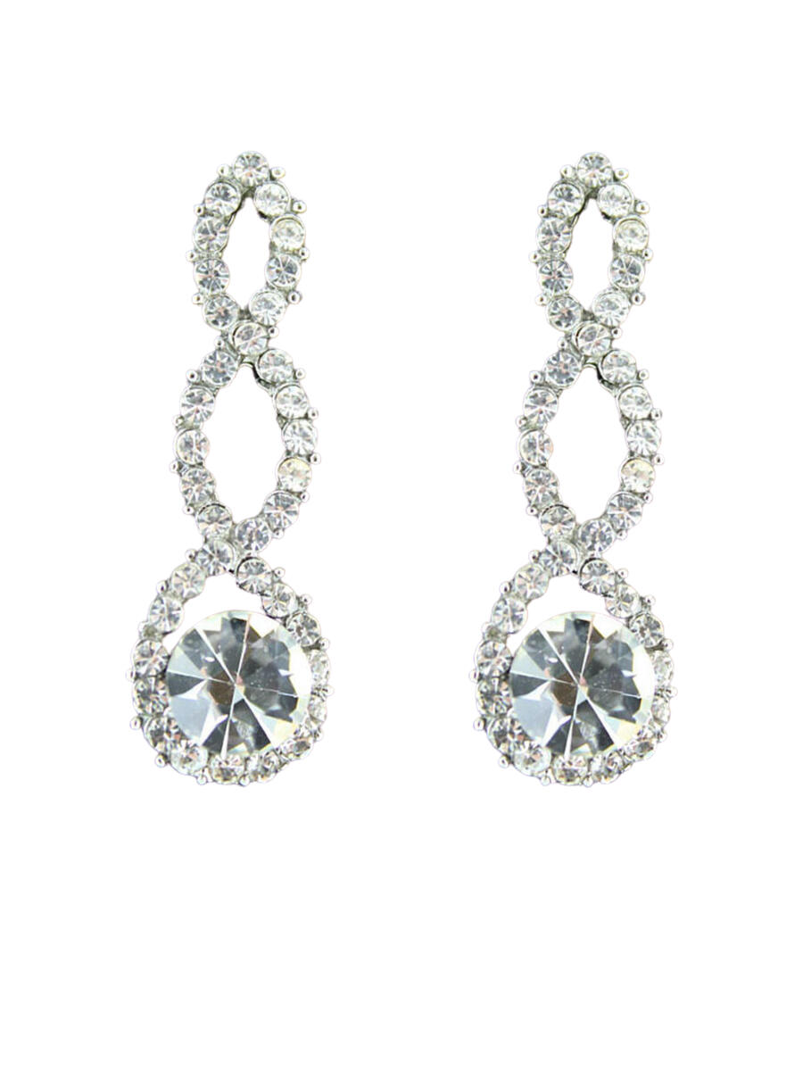 JIM BALL DESIGN - Rhinestone Drop Earring