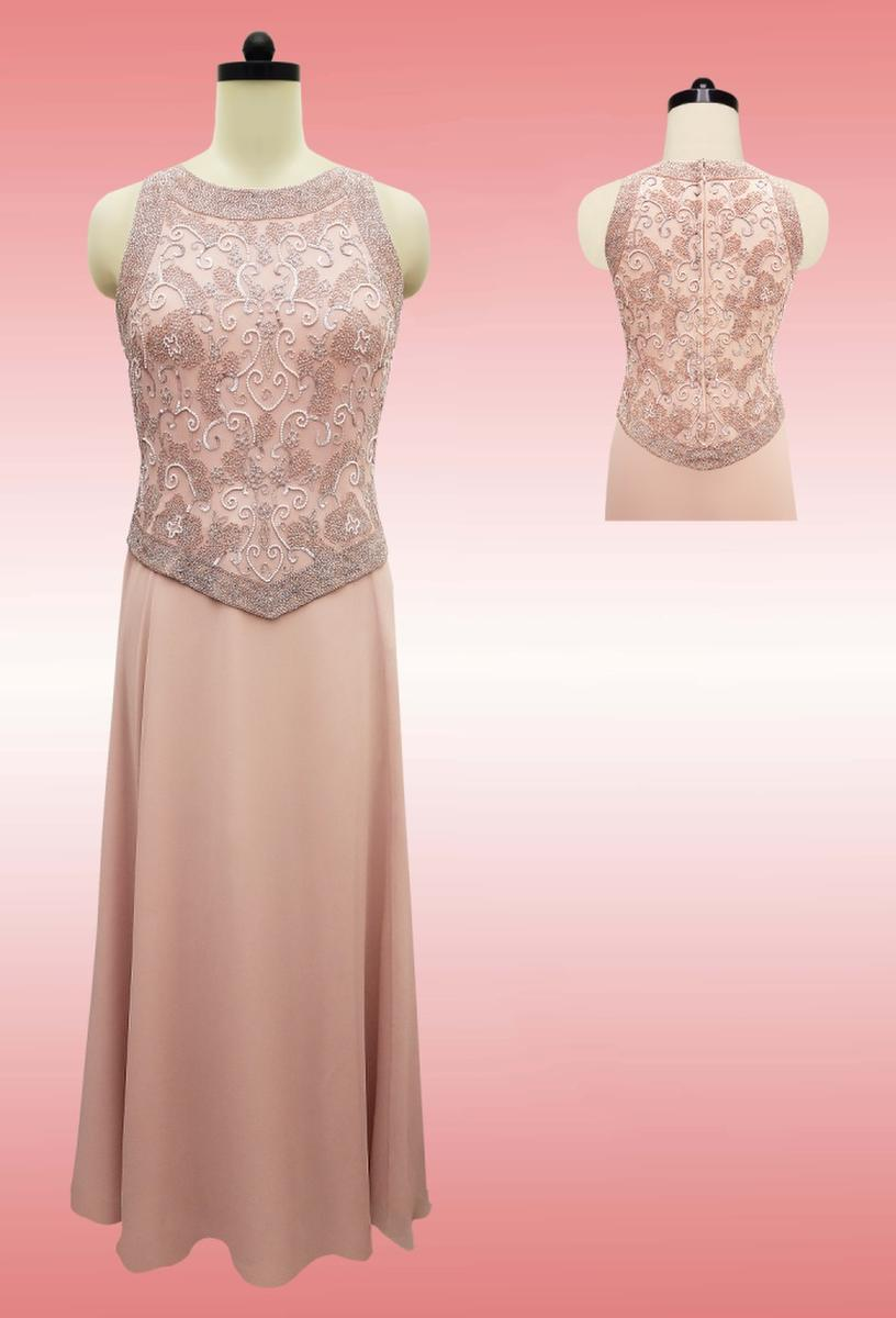 JKARA - Jersey Beaded Bodice Gown