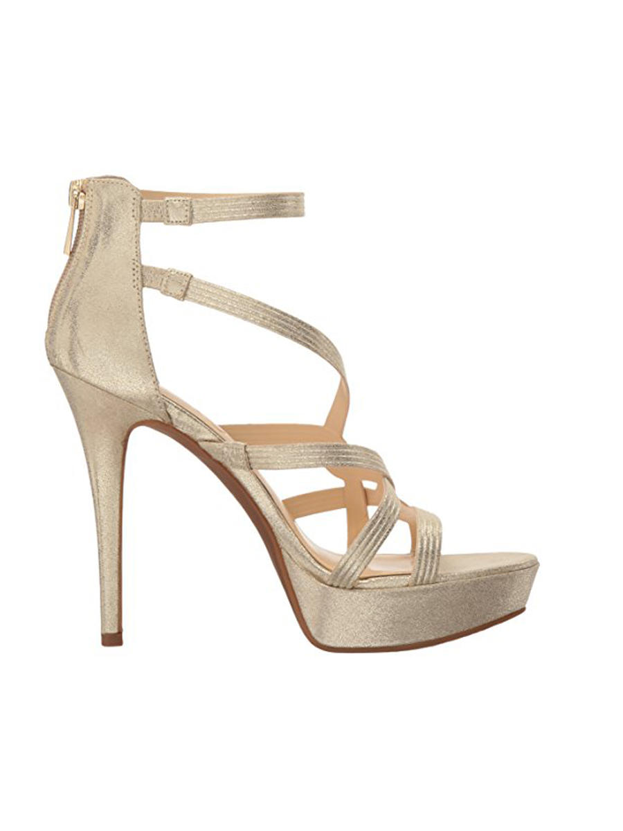 JESSICA SIMPSON        vince camuto - Metallic Braided Open-Toe Pump