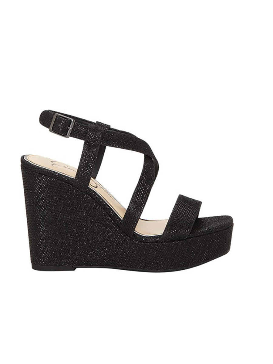JESSICA SIMPSON        vince camuto - 3/18 Glitter High Wedge