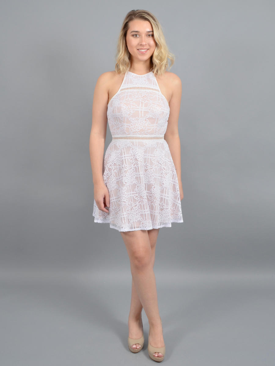 JUMP - Flair Halter Lace Dress
