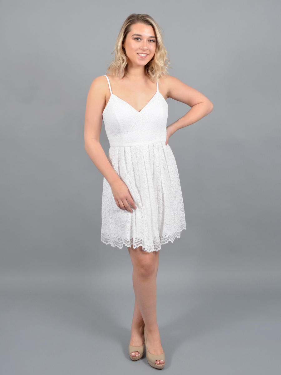 JUMP - Lace Dress-Spaghetti Strap