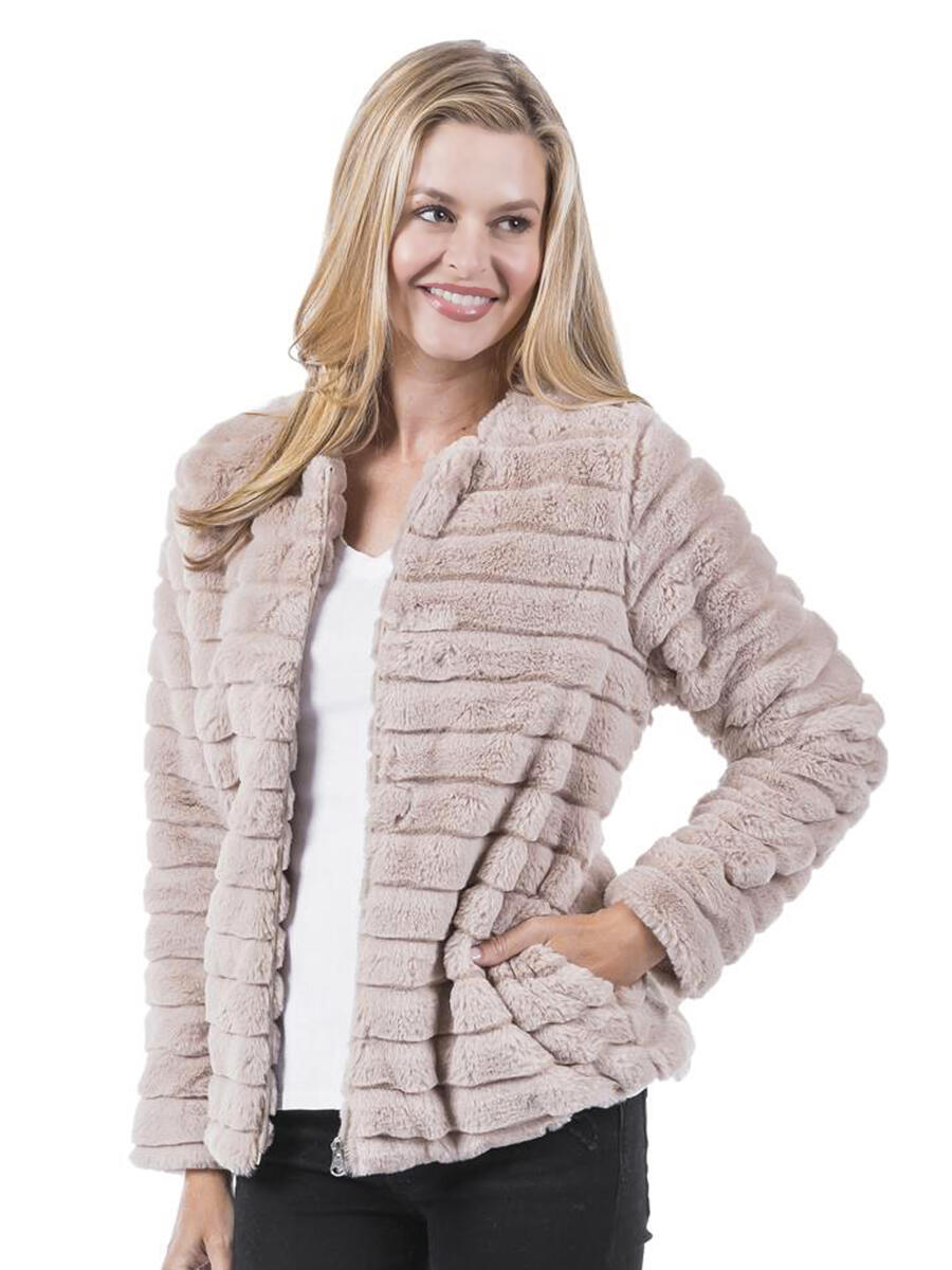 KATYDID COLLECTION - Faux Rabbit Jacket