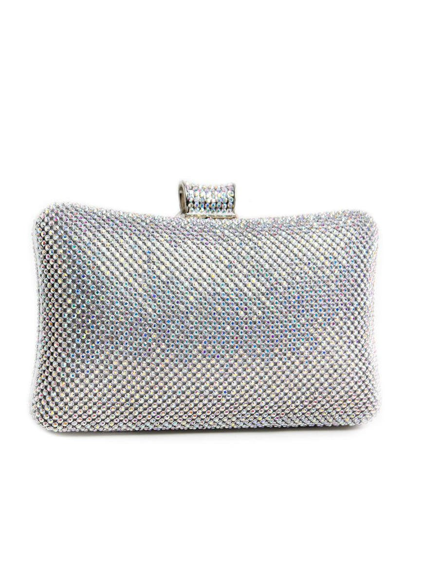 Lady Couture - Rhinestone Hard Case Clutch