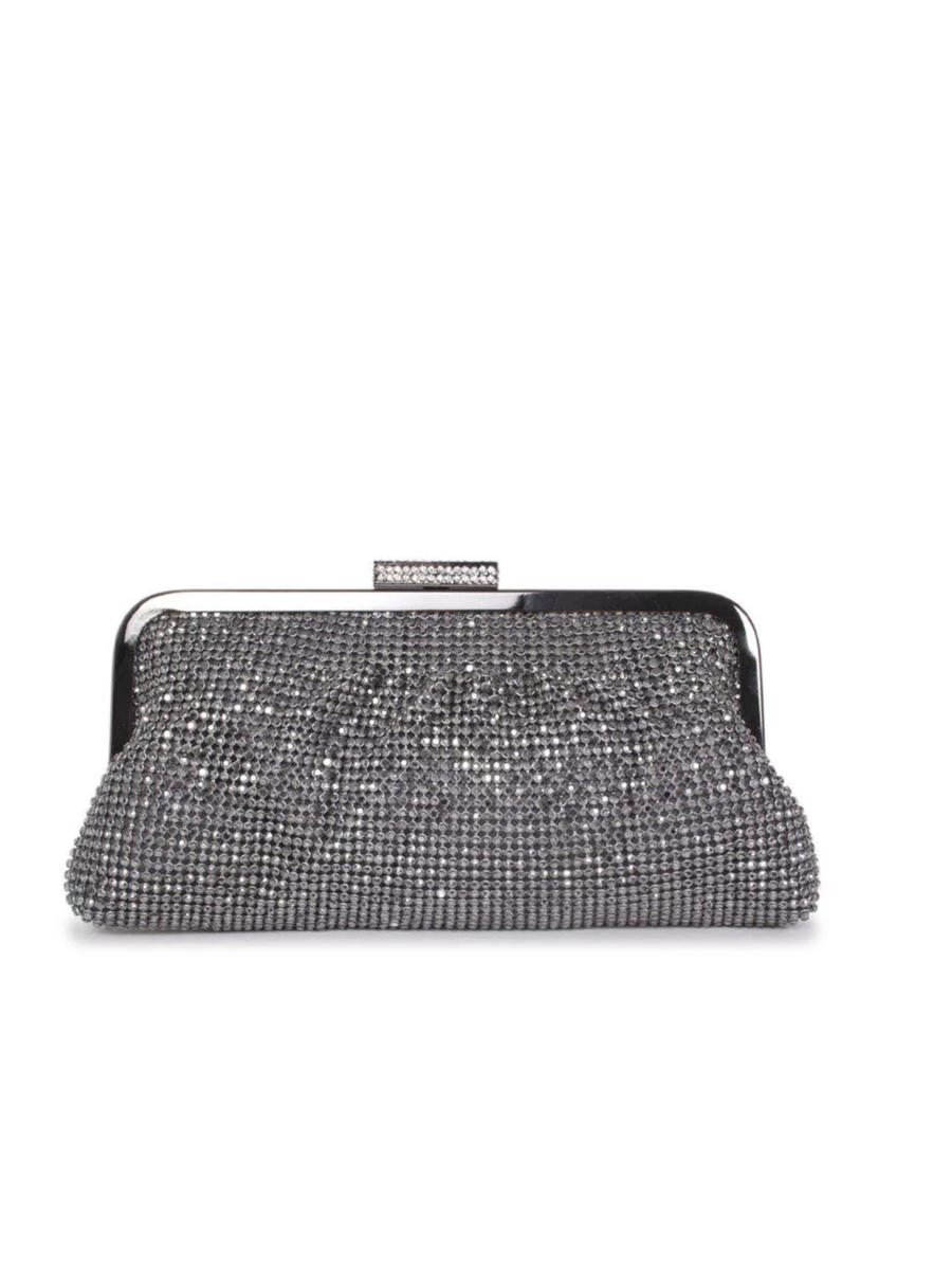 Lady Couture - Soft Metal Frame Rhinestone Clutch