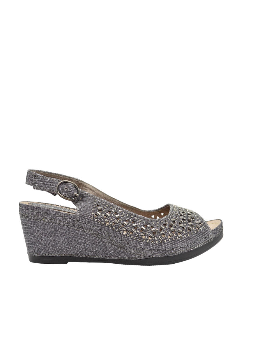 Lady Couture - Wedge Glitter Ponch Out Open Toe Sling