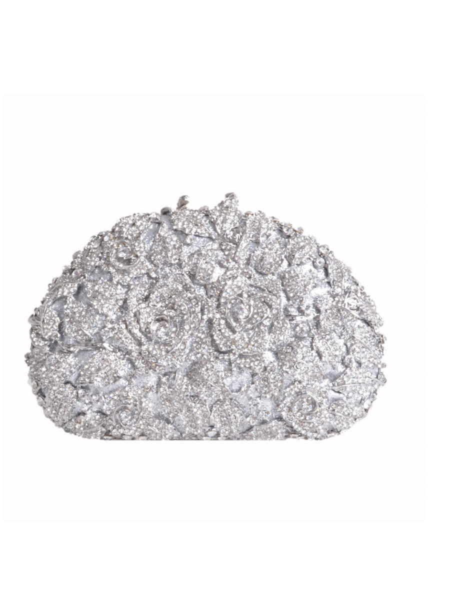 Lady Couture - Jewel Incrusted Floral Clutch