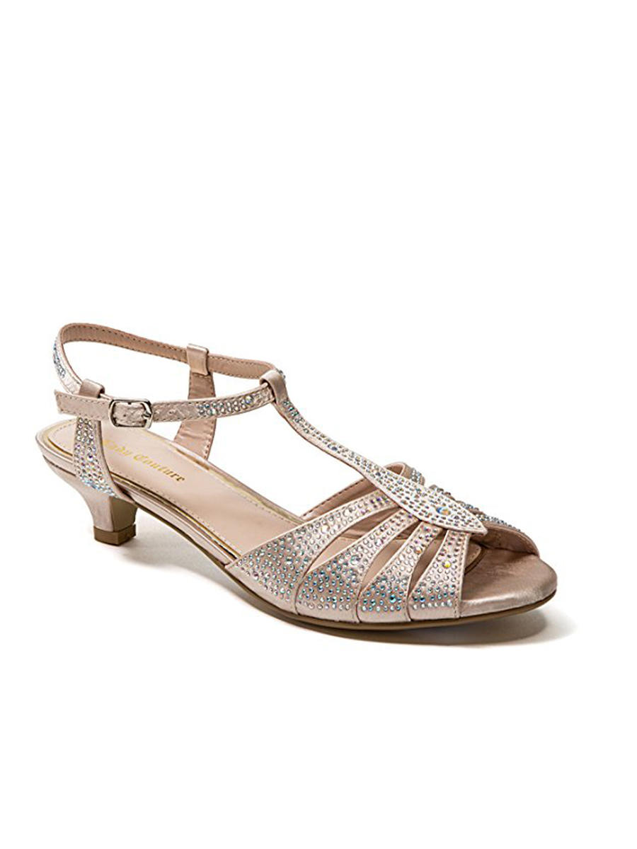 Lady Couture - Embellished Low-Heel  Sandal