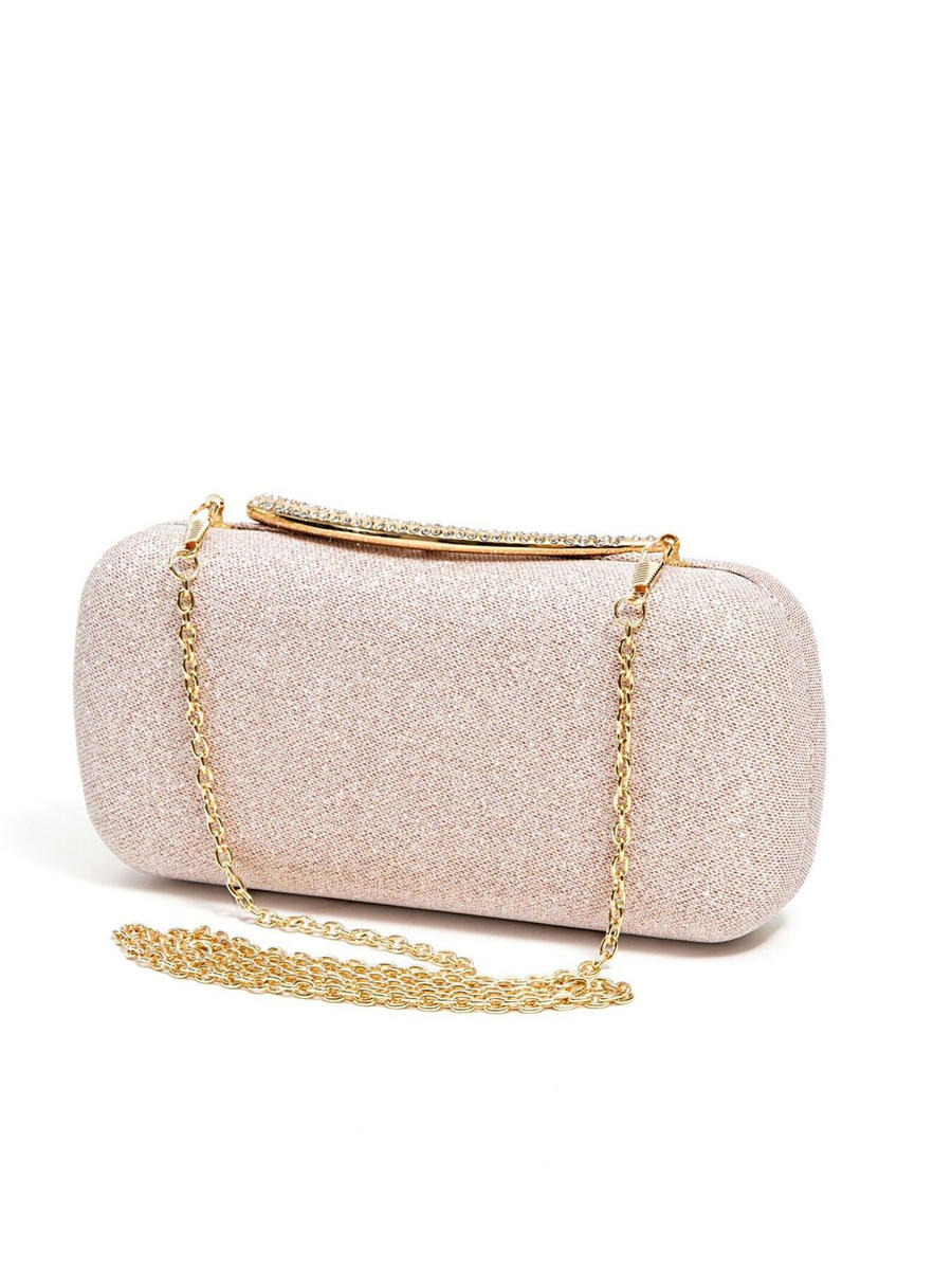 Lady Couture - Glitter Hard Case Clutch Bag
