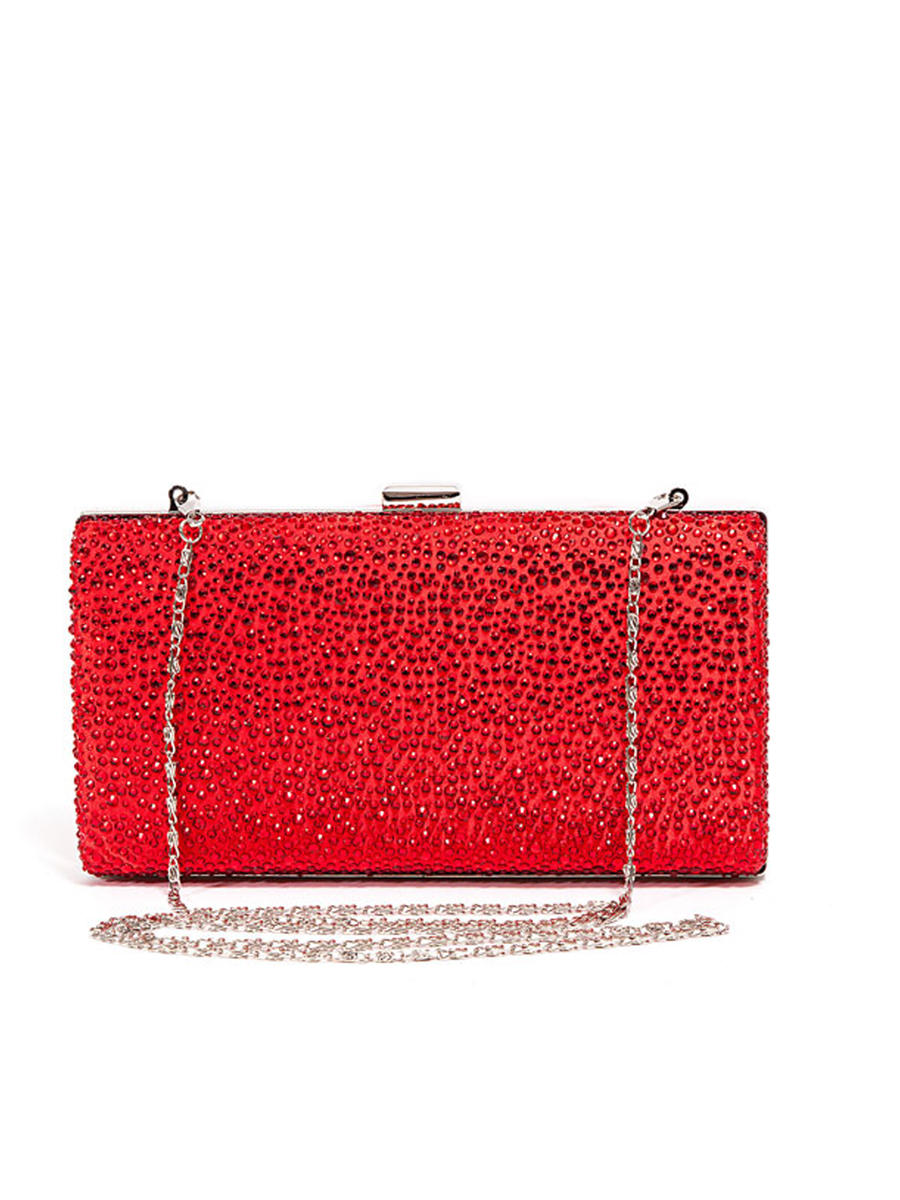 Lady Couture - Allover Rhinestone Clutch Bag