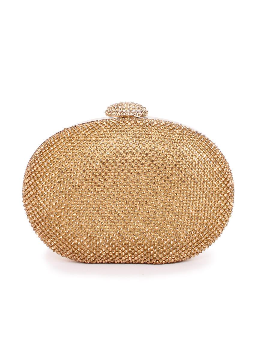 Lady Couture - Embellished Oval Clutch