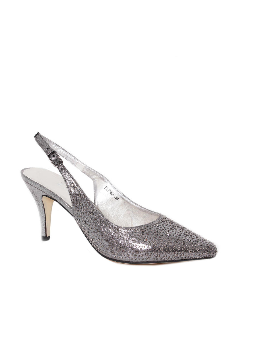 Lady Couture - Embellished Metallic Slingback Pump