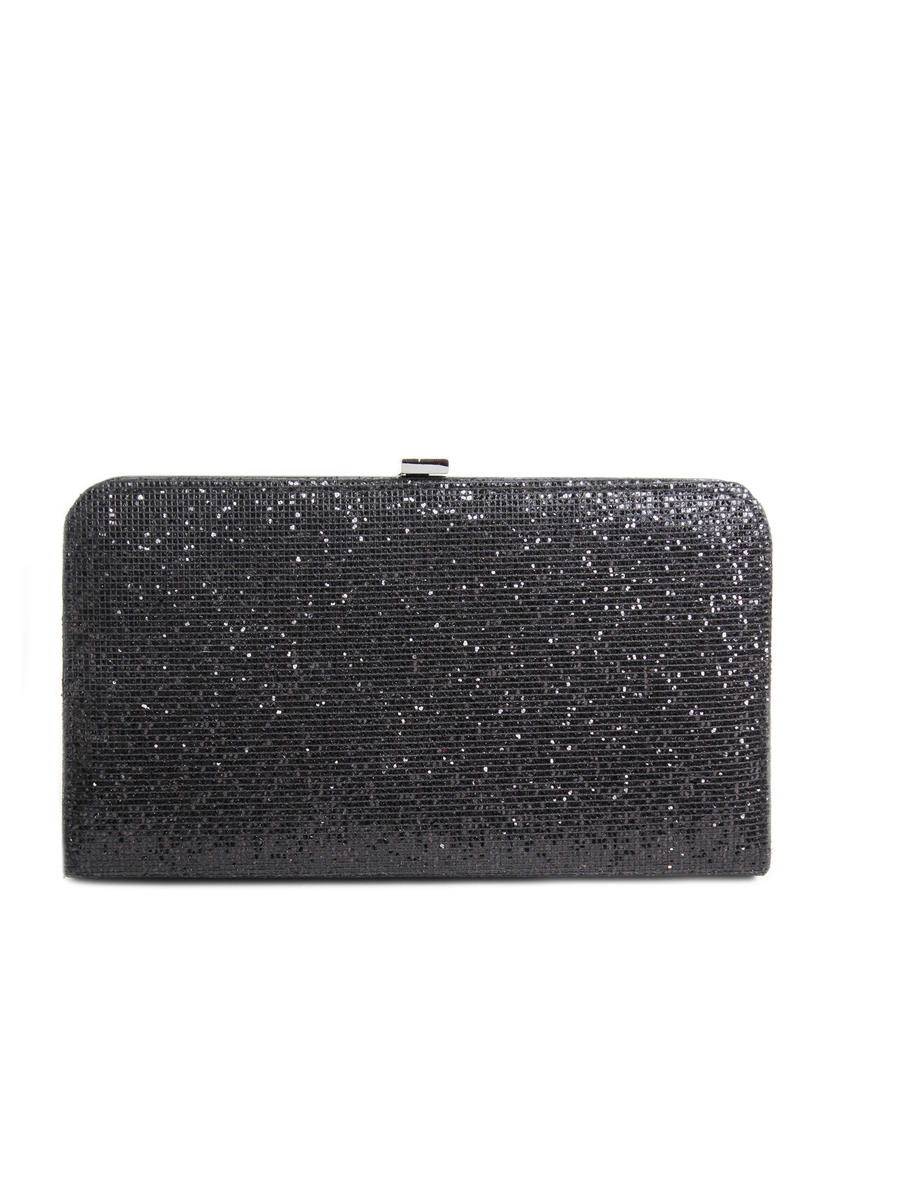 Lady Couture - Large Glitter Hard Case Clutch