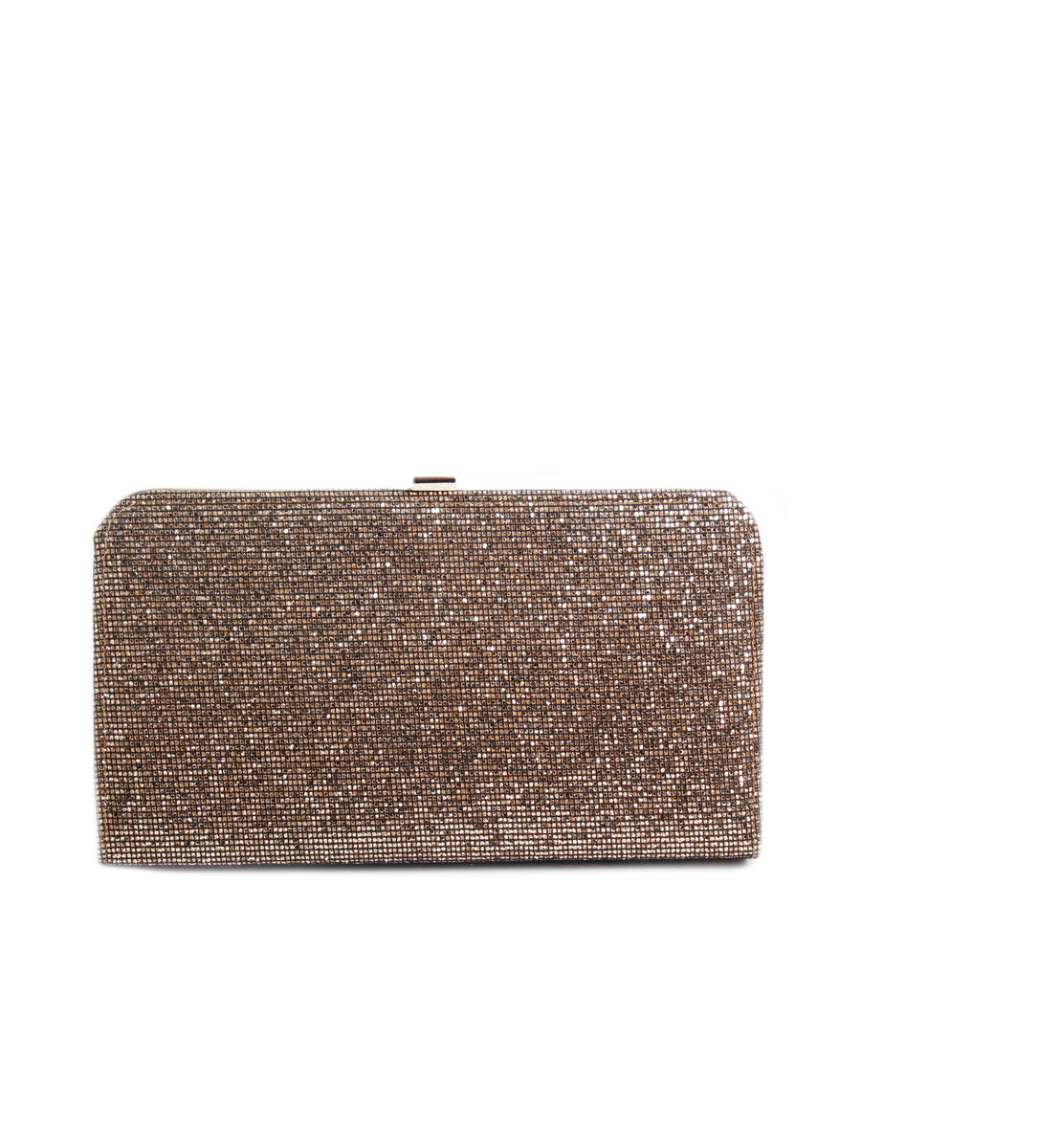 Large Glitter Hard Case Clutch