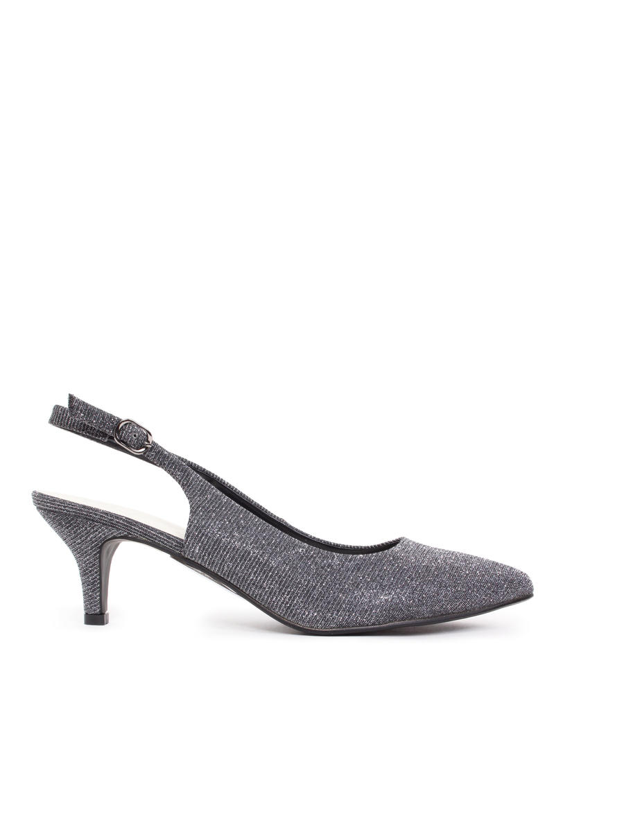 Lady Couture - Metallic Low-Heel Slingback