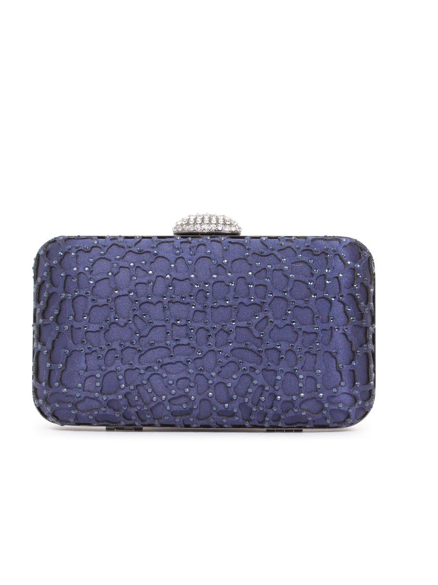 Lady Couture - Satin Lasercut Hardcase Clutch