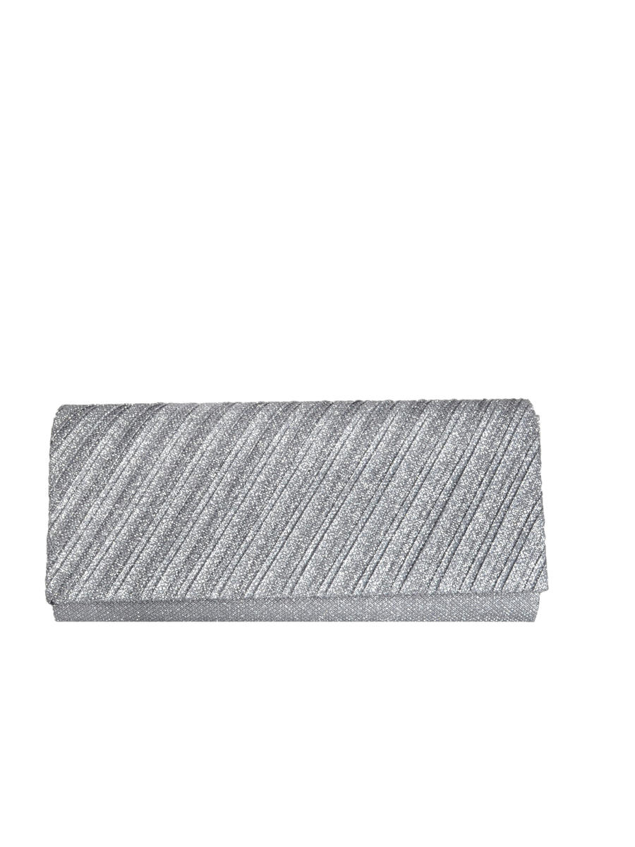 Long Clutch Glitter Pleated
