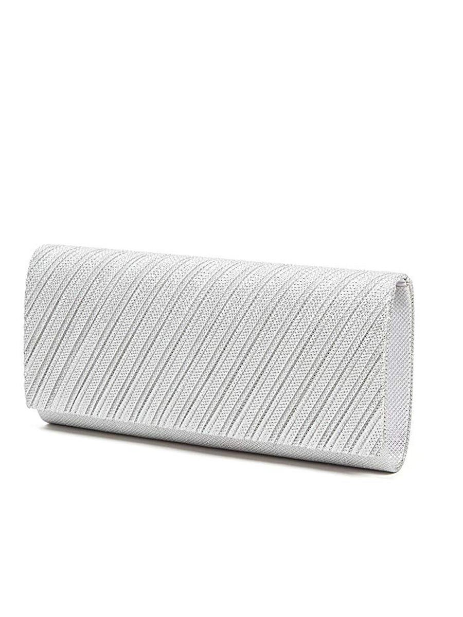 Lady Couture - Long Glitter Pleated Clutch