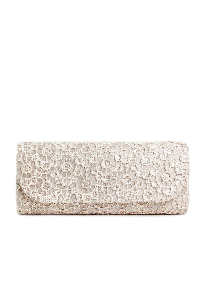 Lady Couture - Sequin & Lace Clutch Bag