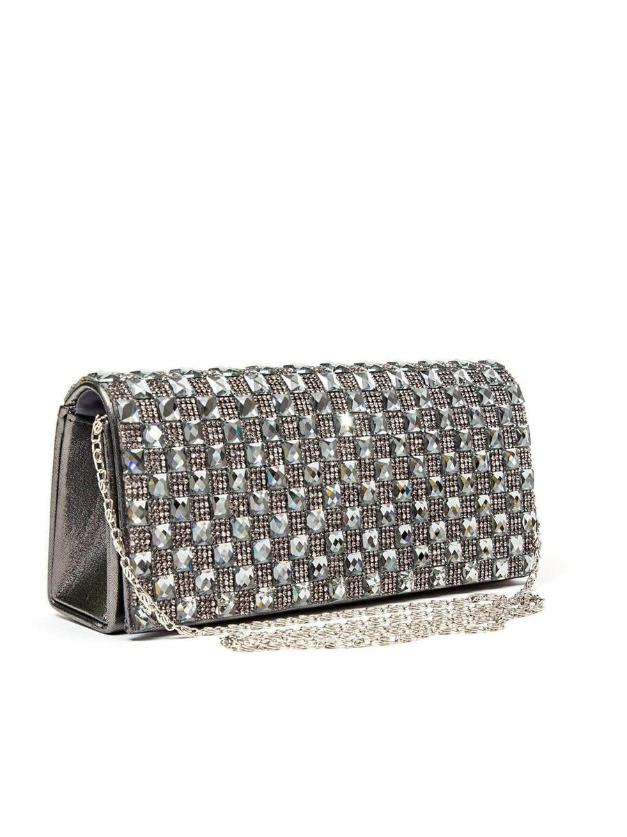Lady Couture - Mirror Tile Clutch Bag