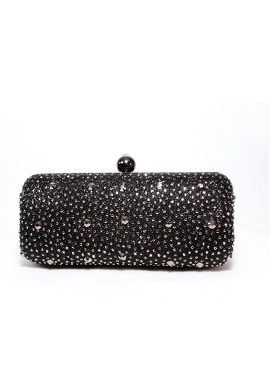 Lady Couture - Embellished Hard Case Clutch